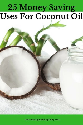 money saving uses coconut oil