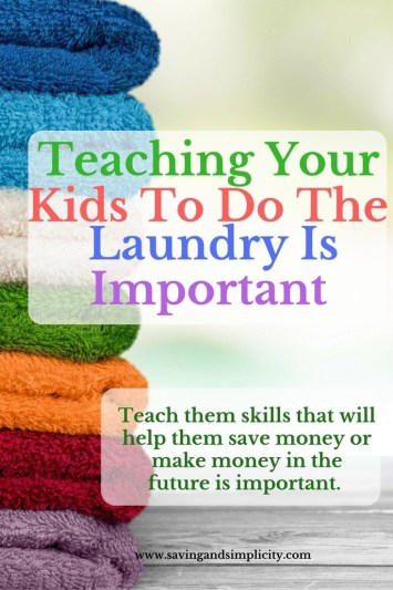 teaching responsible kids to do laundry