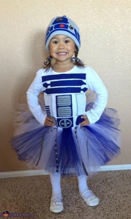 DIY r2d2 girl costume