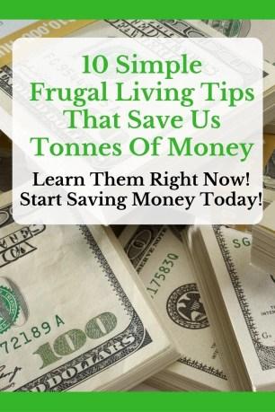 ten frugal living tips save money