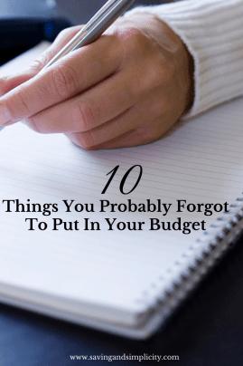 forgot to budget