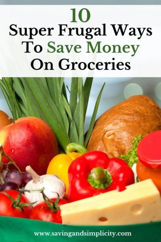 Groceries can get expensive. Learn how to save money at the grocery store with these 10 super frugal ways to save money on food.