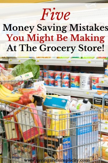 You can save money at the grocery store, but these 5 mistakes might be hampering your savings! Learn how to save more money at the grocery store.