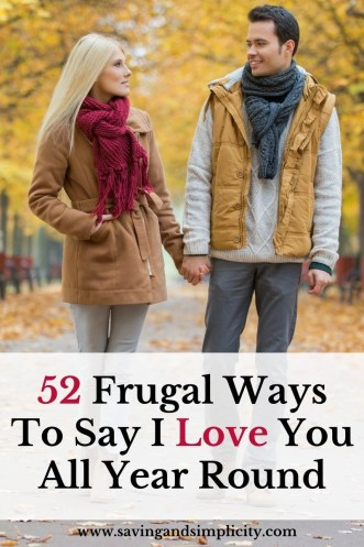Saying I love you to your partner is important. Say I love you all year round with these 52 frugal ways to say I love you.