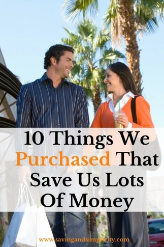 When you are cutting your spending and paying down debt you truly have to look at what you are buying. Learn 10 things we purchased that save us money.