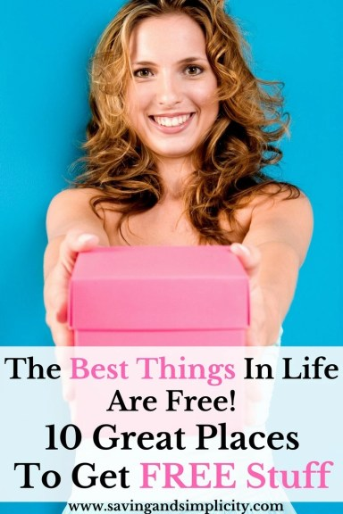 The best stuff in life is FREE. Checkout these 10 great places to get free stuff. Free stuff that will make a difference in your everyday and save you money
