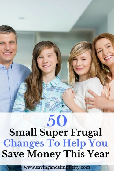 Are you struggling to save money? Do you watch the money come in and go out to bills? Don't panic. Learn 50 small super frugal tips to help you save money.