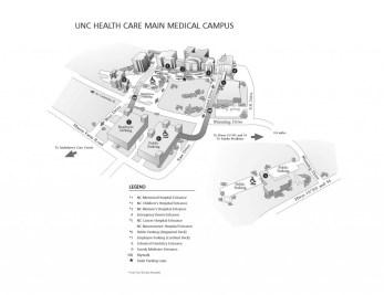 UNC Hospitals map