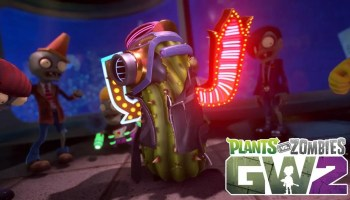 Backyard Battleground gameplay shown for Plants vs Zombies