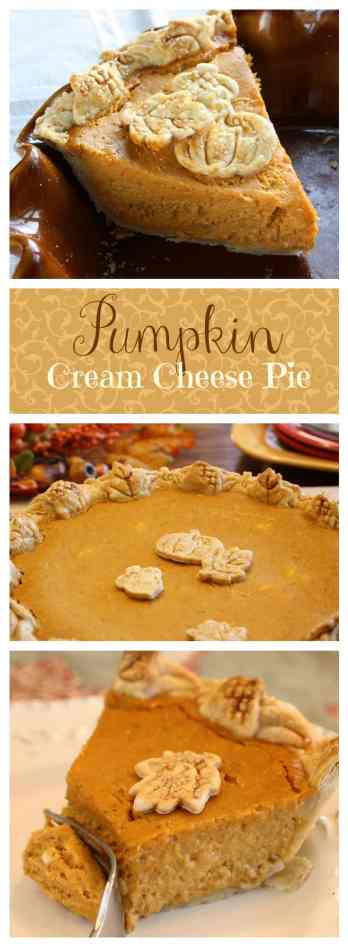 Pumpkin Cream Cheese Pie | www.savingdessert.com