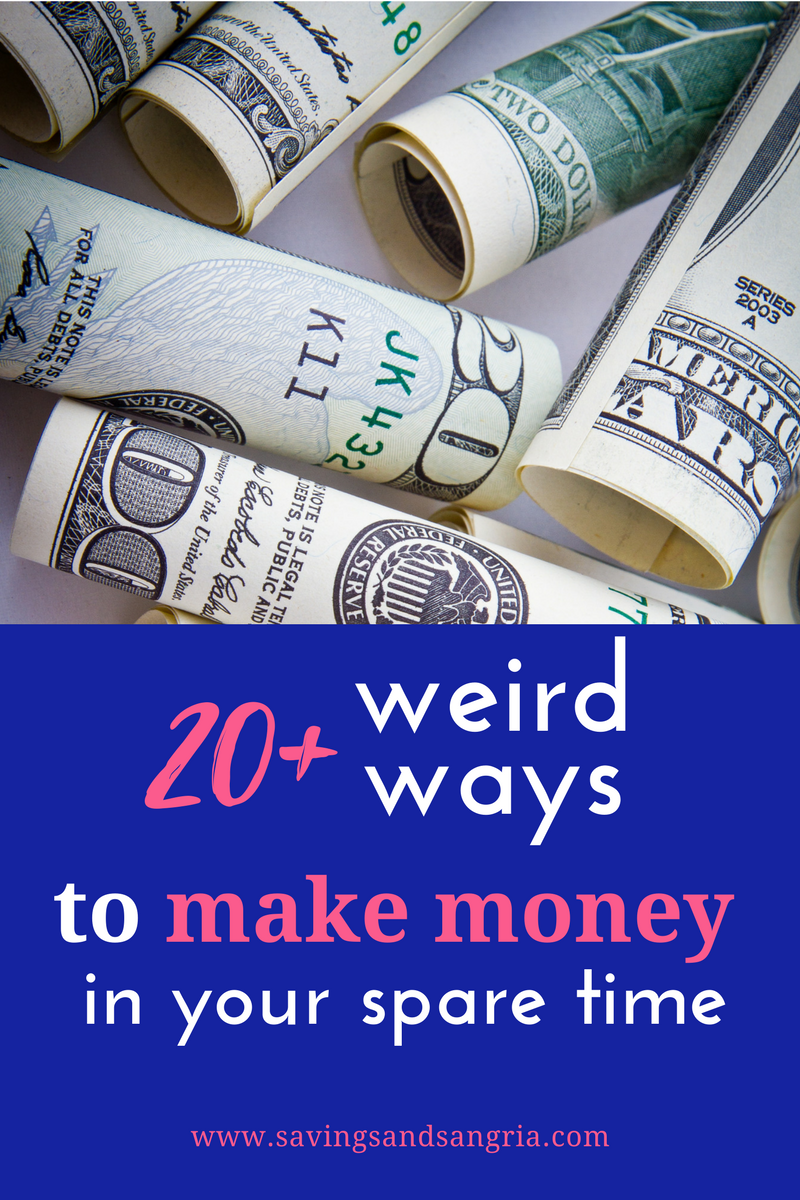 I could sooooo use some extra cash. Awesome list of some weird-but-not-too-weird ways to make money!