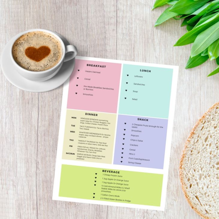 FREE Super Simple Meal Planning Printable!