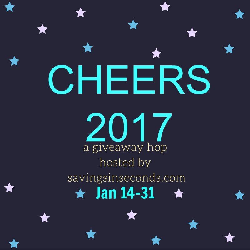 Cheers 2017 Giveaway Hop signups open - savingsinseconds.com width=