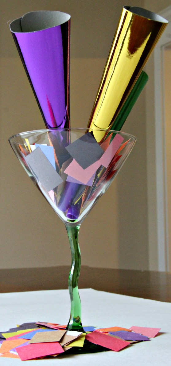 New Year's Eve Centerpiece-Easy, Inexpensive - Earning and ...