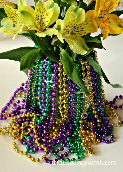 Mardi Gras Beads and Vase