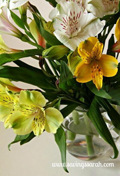 Mardi Gras Flowers and Vase