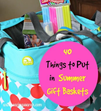 40 Things to Put in Summer Gift Baskets