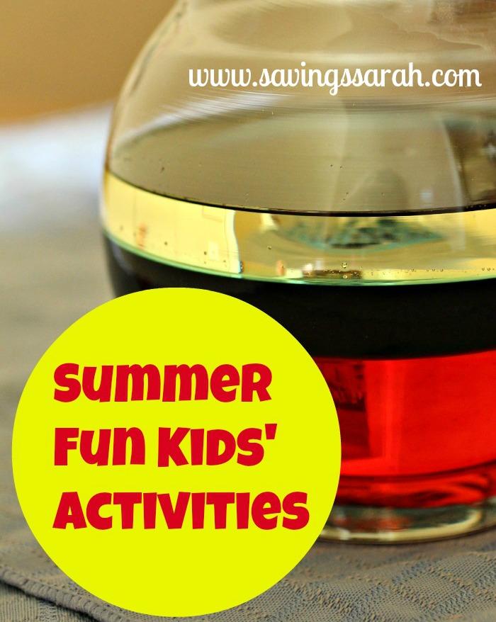 Summer Fun Kids'Activities