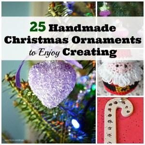 25 Handmade Christmas Ornaments to Enjoy Creating