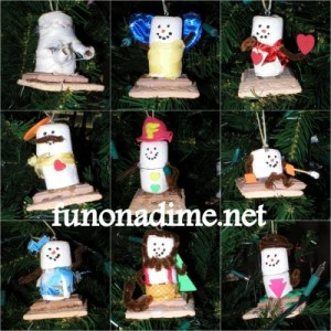 Homemade S'mores Ornaments