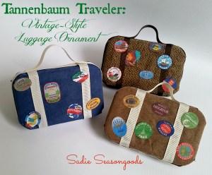 Tannebaum Traveler Vintage Style Luggage Ornament