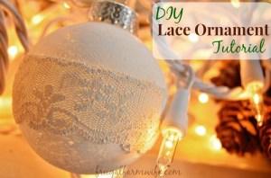 DIY Rustic Lace Ornament