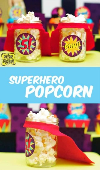 Superhero Popcorn Party Cups