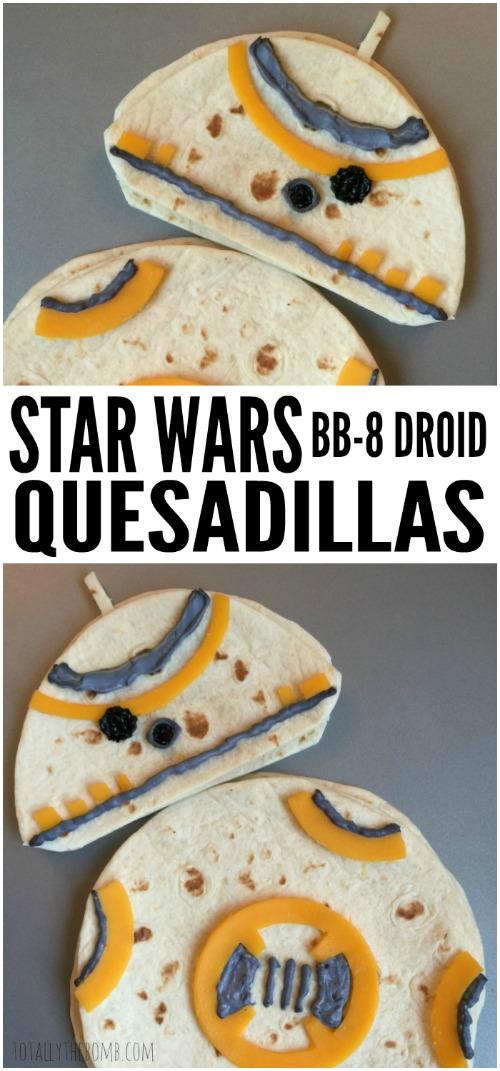 Star Wars BB-8-Droid Quesadillas