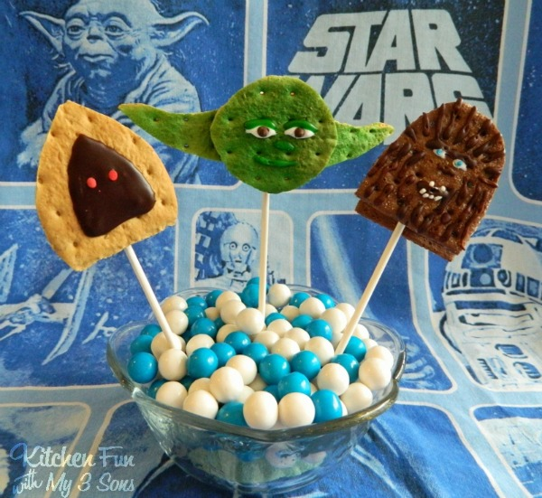 Star Wars Smore's Pops and Kitchen Fun with My 3 Sons Blog