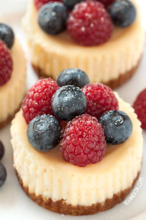Grain Free Gluten Free Mini Cheesecakes