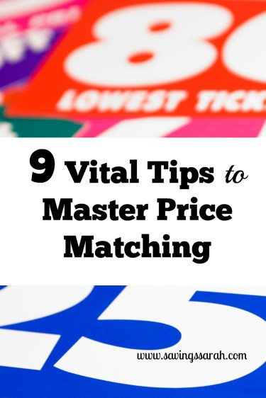 9 Vital Tips to Master Price Matching