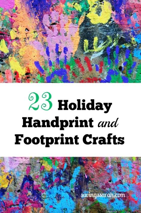 23 Holiday Handprint and Footprint Crafts