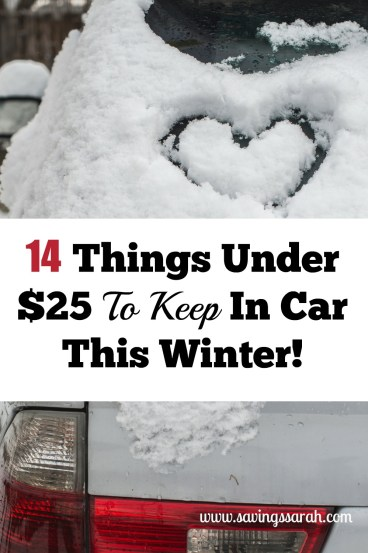 14 Things Under $25 To Keep In Car This Winter