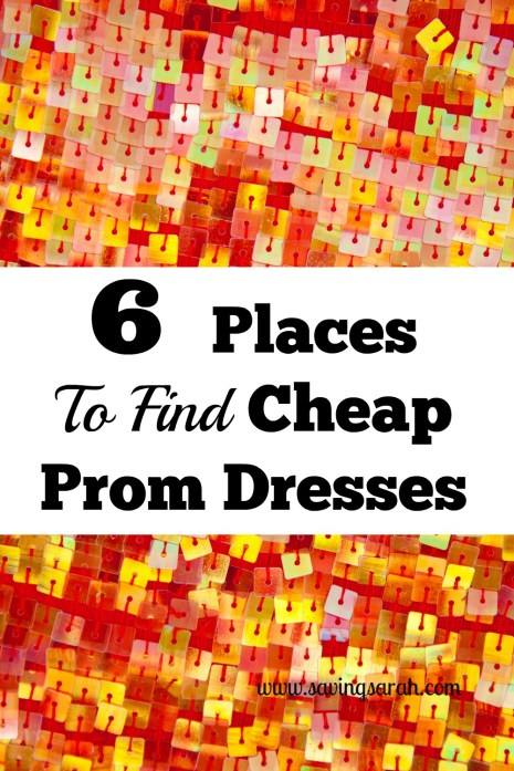 6 Awesome Places To Find Cheap Prom Dresses