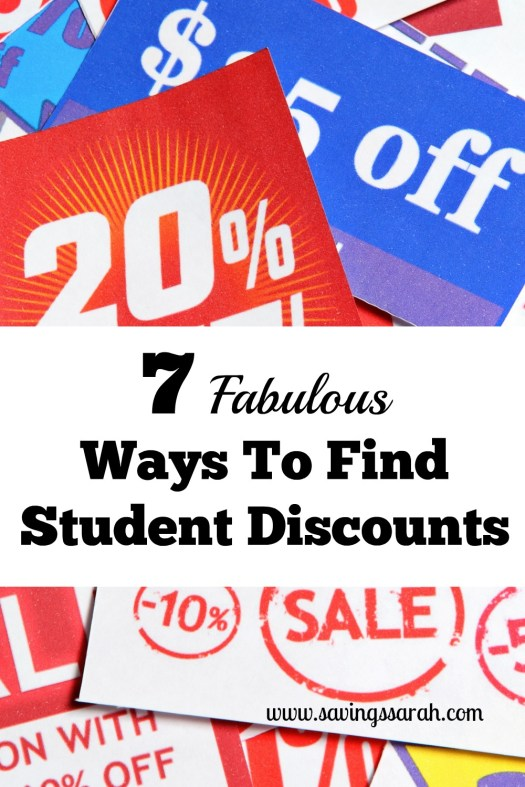 7 Fabulous Ways To Find Student Discounts