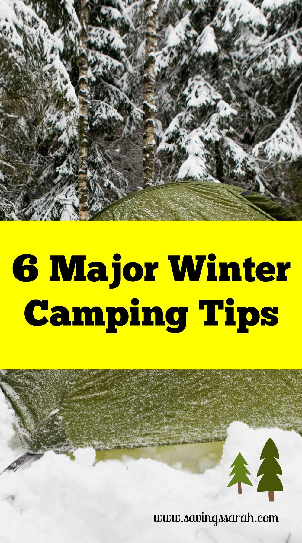 6 Major Winter Camping Tips - Earning and Saving with Sarah