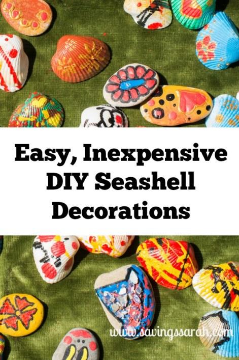 Easy Inexpensive DIY Seashell Decorations