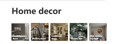 Pinterest Sub Categories