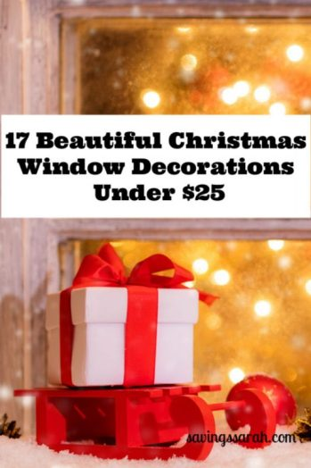 17 Beautiful Christmas Window Decorations Under $25