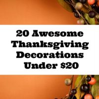 20 Awesome Thanksgiving Decorations Under $20