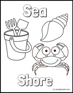 Summer Coloring Pages Sea Shore