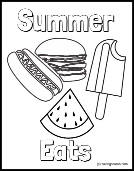 Fun Summer Coloring Pages Earning And Saving With Sarah