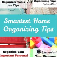 Smartest Home Organizing Tips