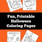 Four Fun Printable Halloween Coloring Pages
