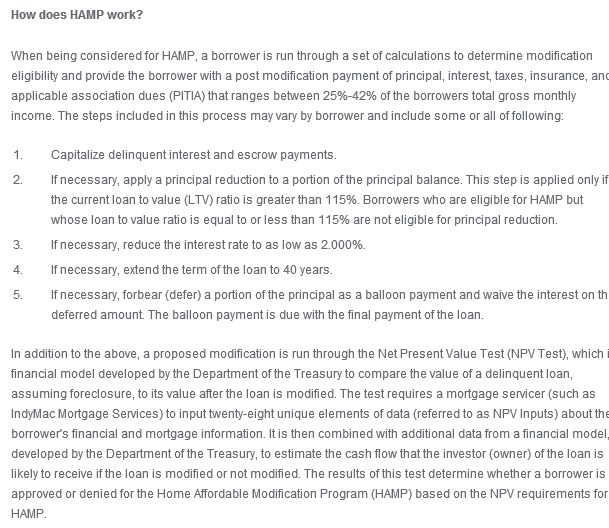 How Does the HAMP Program Work
