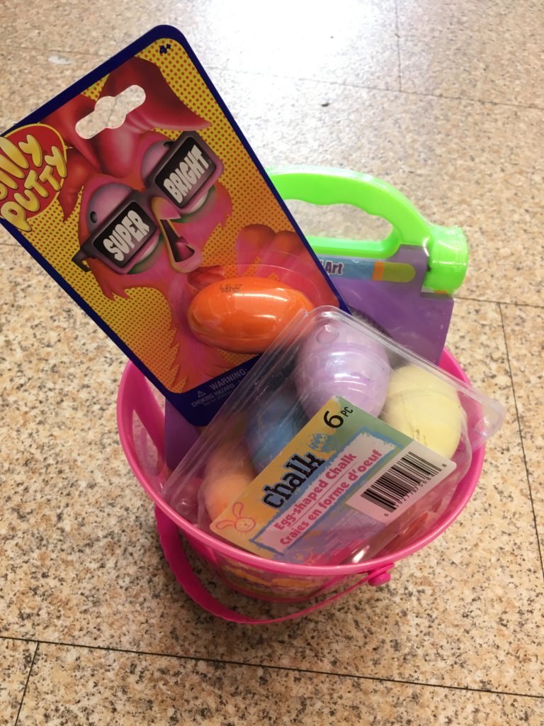 diy easter baskets with fillers from dollar tree
