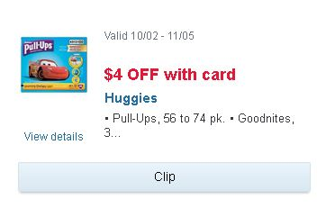 image about Printable Coupon $3 Off Pull Ups identify Walgreens: Huggies Pull-Ups or GoodNites Bins AND Flushable