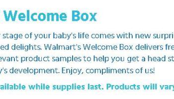 FREE Walmart Baby Box w/ Free Shipping | Saving With Candy