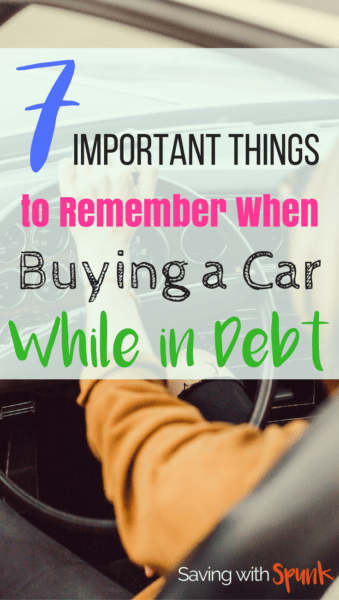 buying a car in debt