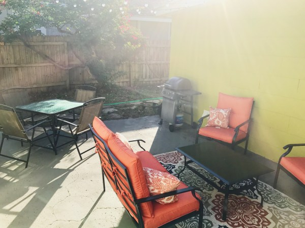 Patio set and rug from Aldi
